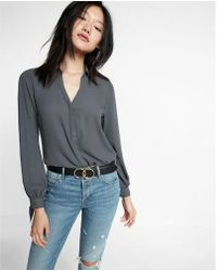 Express - Slim Fit Tie Cuff Portofino Shirt - Lyst