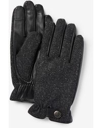 Express Wool-blend Touchscreen Compatible Gloves Black S/m
