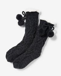 Express | Cable Knit Slipper Socks | Lyst