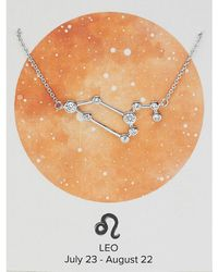 Express Sterling Forever Silver Leo Constellation Necklace Silver Onesize - Metallic
