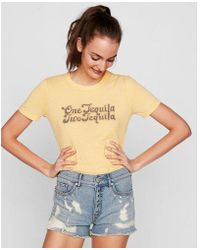 Express - One Eleven One Tequila Two Tequila Graphic Tee - Lyst