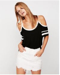Express - One Eleven Sporty Cold Shoulder Tee - Lyst