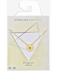 Express Sterling Forever 'you're A Gem' August Birthstone Necklace Gold - Metallic