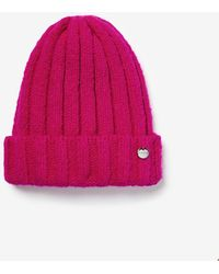 Express Ribbed Beanie Pink