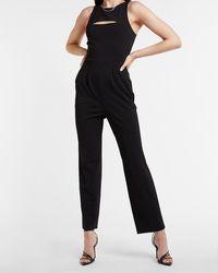 Express Sleeveless Cut-out Jumpsuit Black Xl