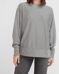 Express Cosy Oversized Crew Neck Sweatshirt Grey