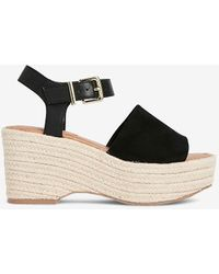 de5fca6587a Express Espadrille Wedge Sandal in Red - Lyst