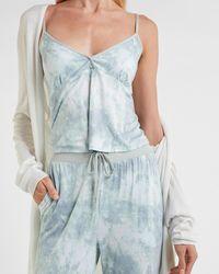 Express V-neck Pyjama Cami Print L - Blue