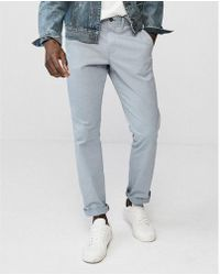 Express - Slim Garment Dyed Stretch Chino - Lyst