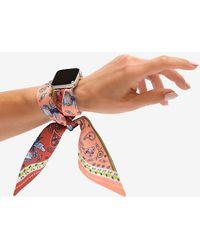 Express Wristpop Lana Apple Watch Scarf Band Silver 42mm/44mm - Metallic