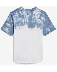 Express Tie-dye Crew Neck T-shirt Blue S