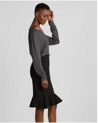 Express - High Waisted Pinstripe Fluted Pencil Skirt - Lyst