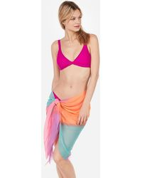 Express Tie-dye Sarong Swim Cover-up - Pink