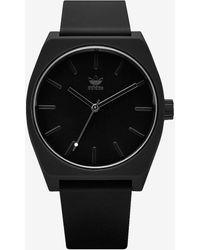 Express Adidas Process Sp1 Black Silicone Watch Black