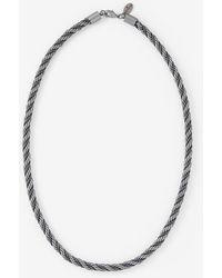 Express Braided Black Chain Bracelet