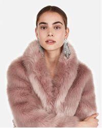 Express Long Faux Fur Coat - Multicolour