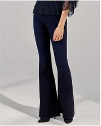 Express - Mid Rise Stretch+supersoft Bell Flare Jeans, Women's Size:10 Short - Lyst