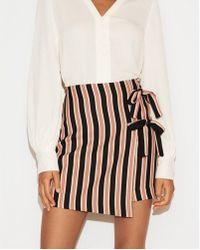 Express D Wrap Mini Skirt