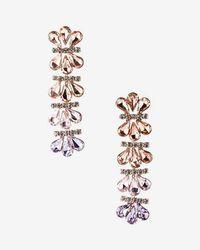 Express - Ombre Stone Drop Earrings - Lyst