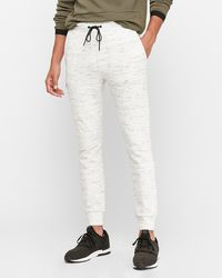 Express - Space Dyed Double Knit Joggerss Neutral Xs - Lyst