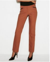 Express - Low Rise Piped Barely Boot Editor Pant - Lyst