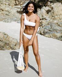 Express Ete Swimwear Coco Embroidered One-shoulder Bikini Top Blush - Multicolor