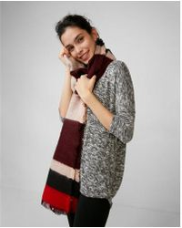 Express - Color Block Stripe Blanket Scarf - Lyst