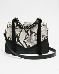 Express - Chain Handle Snake Print Bag - Lyst