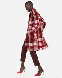 Express - Plaid One Button Car Coat - Lyst