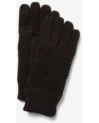 Express Touchscreen Compatible Waffle Gloves Black