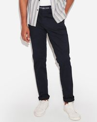 Express - Skinny Chambray Trim 365 Comfort Stretch+ Chino Blue - Lyst