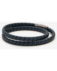 Express Braided Wrap Bracelet Blue