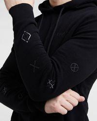 Express Black Logo Graphic Hoodie Black Xl