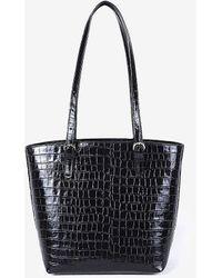Express Joanna Maxham Leather Bell Mini Tote Black