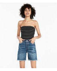 Express - High Rise Vintage Original Denim Bermuda Shorts - Lyst