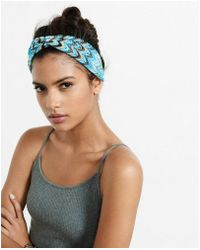 Express - Crocheted Chevron Loop Stretch Headband - Lyst