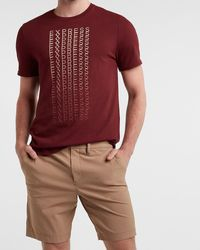 Express Maroon Faded Graphic T-shirt Red Xl