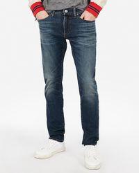 Express Skinny Hyper Stretch Jeans, Size:w28 L32 - Blue