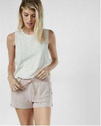 Express - One Eleven Plush Jersey Drawstring Shorts - Lyst