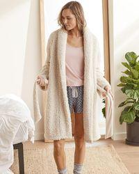Express Upwest Sherpa Robe Ivory - White