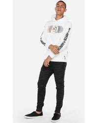 Express - Atlanta Hawks Nba Heavyweight Graphic Foil Hooded T-shirt White - Lyst
