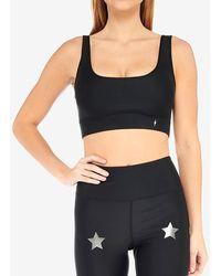 Express Electric Yoga Star Bright Sports Bra Black M