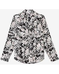 Express Original Fit Floral Portofino Shirt Multi Xxs - Multicolour