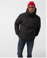 Express | Heat Seal Puffer Coat | Lyst
