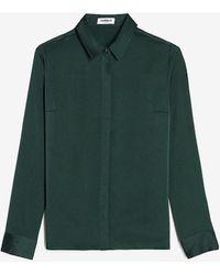 Express Satin Portofino Shirt Green Xs