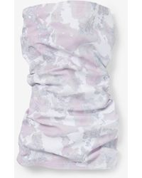 Express Marble Print Face Covering Grey