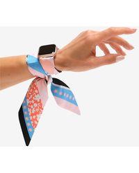 Express Wristpop Blue Blossom Apple Watch Scarf Band Rose Gold - Multicolour