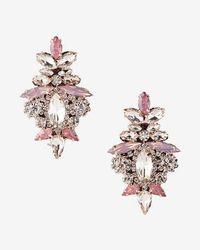 Express - Ornate Stone Earrings - Lyst