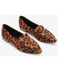 Express Animal Print Lenox Loafers Black