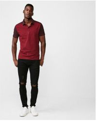 Express | Color Block Moisture-wicking Stretch Signature Polo | Lyst